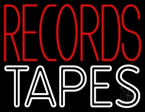 Records Tapes LED Neon Sign