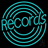 Records With Disc LED Neon Sign