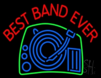 Red Best Band Ever LED Neon Sign