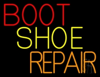 Red Boot Shoe Repair LED Neon Sign