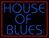 Red Border Blue House Of Blues LED Neon Sign