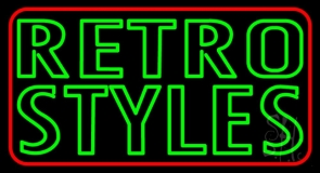Red Border Green Retro Styles LED Neon Sign