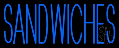 Blue Sandwiches LED Neon Sign