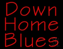 Red Down Home Blues LED Neon Sign