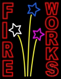 Red Fireworks Block LED Neon Sign