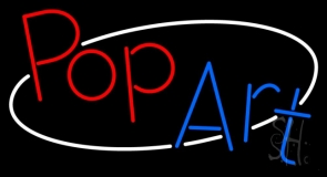 Red Pop Blue Art Neon Sign