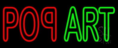 Red Pop Green Art Neon Sign