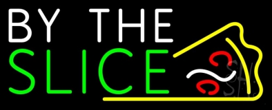 By The Slice Logo LED Neon Sign