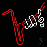 Saxophone Musical Notes LED Neon Sign