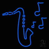 Saxophone With Musical Note LED Neon Sign