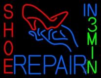 Shoe Repair Heels In 3 Min LED Neon Sign