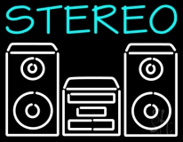 Stereo System LED Neon Sign