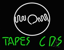 Tapes Cds Disc LED Neon Sign