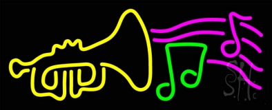 Trumpet With Musical Note LED Neon Sign