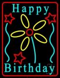 Turquoise Happy Birthday LED Neon Sign