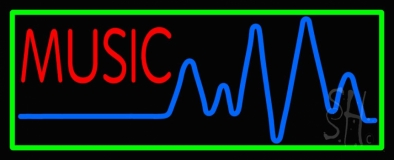 Turquoise Music LED Neon Sign