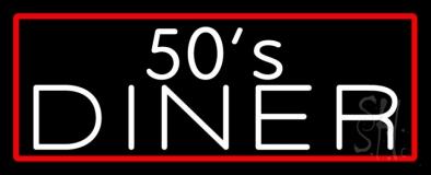 White 50s Diner LED Neon Sign