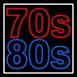 White Border 70s 80s LED Neon Sign