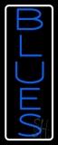 White Border Blue Blues LED Neon Sign