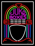 White Border Juke Boxes LED Neon Sign