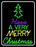 White Border Merry Christmas And Happy New Year LED Neon Sign