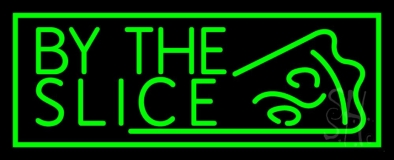 Green By The Slice LED Neon Sign