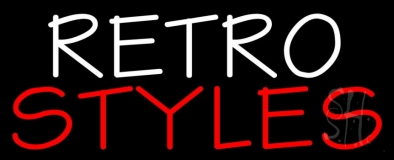 White Retro Red Styles Neon Sign