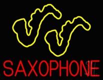 Yellow Saxophones LED Neon Sign