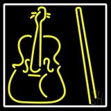 Yellow Violin Logo LED Neon Sign