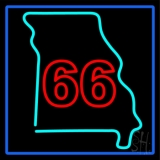 66 Route LED Neon Sign