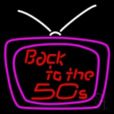 Back To The 50s Television LED Neon Sign