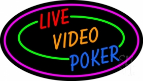 Live Video Poker With Border Neon LED Neon Sign