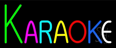 Multicolored Karaoke Neon Sign