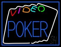 Multi Color Video Poker LED Neon Sign