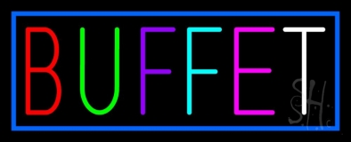 Multicolored Buffet LED Neon Sign