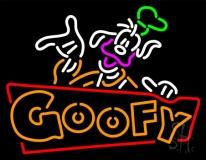 Orange Goofy LED Neon Sign