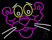 Pink Panther Face Neon Sign