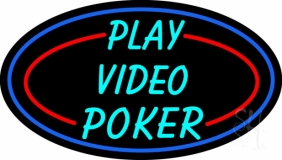 Play Video Poker LED Neon Sign