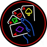 Poker Ace Lucky Beer Bar LED Neon Sign