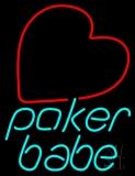 Poker Babe LED Neon Sign
