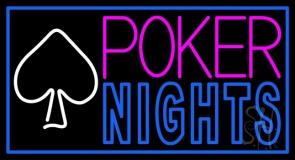 Poker Nights Game Bar Pub Gift LED Neon Sign