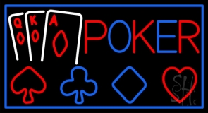 Poker With Cards LED Neon Sign