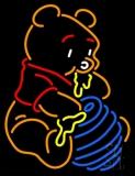 Pooh Eating Honey LED Neon Sign