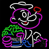 Popeye Spinach LED Neon Sign