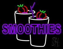 Purple Double Stroke Smoothies LED Neon Sign