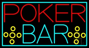 Red Poker Bar LED Neon Sign
