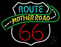 Route 66 Mother Road LED Neon Sign