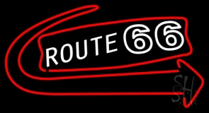 Route 66 With Arrow LED Neon Sign
