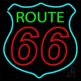 Route Double Stroke 66 Neon Sign
