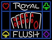 Royal Flush Poker Casino LED Neon Sign